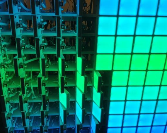 LED Locker Wall – US Open
